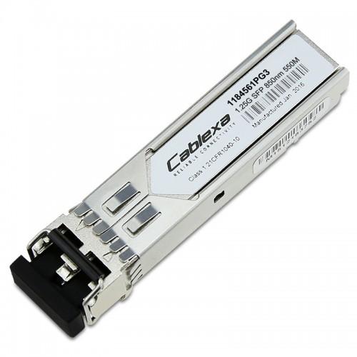 Adtran Compatible 1184561PG3, 1GigE SFP, Multi-mode, LC Connector, 0.5 km using 50/125 μm MMF or 0.270 km using 62.5/125 μm MMF, 850 nm, 2-fiber operation