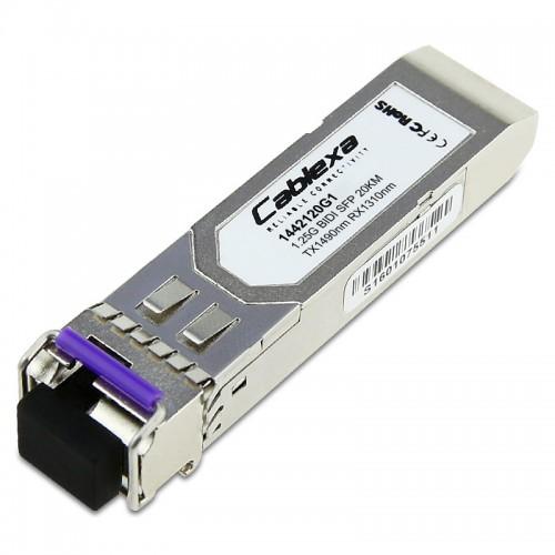 Adtran Compatible 1442120G1, 1GigE BIDI SFP, SM, LC Connector, 20 km, 1310 nm RX/1490 nm TX, single fiber