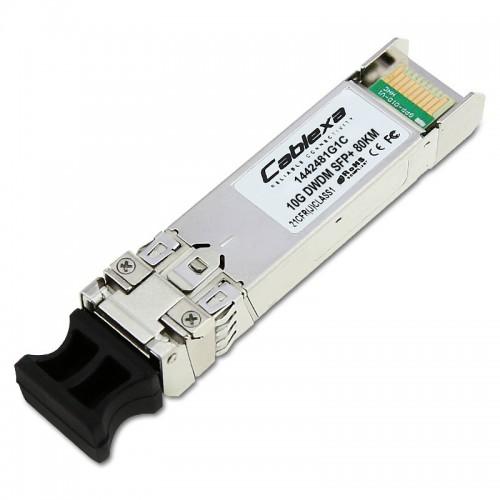 Adtran Compatible 1442481G1C, 10G, DWDM SFP+, 1560.61 nm, Channel 21, 80km, LC connector
