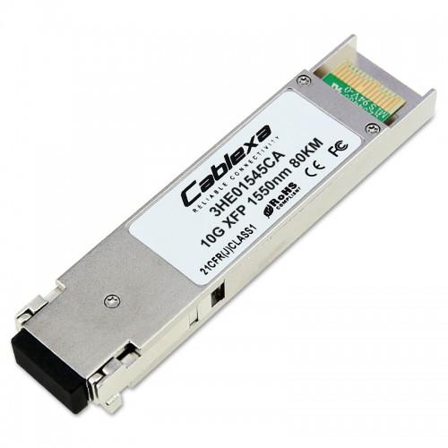 Alcatel-Lucent 3HE01545CA, 1-port 10GBASE-ZR Small Form-Factor Pluggable (XFP) Optics Module, Single Mode Fiber (SMF), 80km, 1550nm, LC Connector, Digital Diagnostic Monitor (DDM), RoHS 6/6 compliant