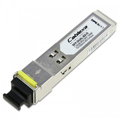 Alcatel-Lucent SFP-DUAL-BX-D, Dual Speed 100Base-BXD or 1000Base-BXD SFP transceiver with an LC type connector, TX-1550nm RX-1310nm, 10km