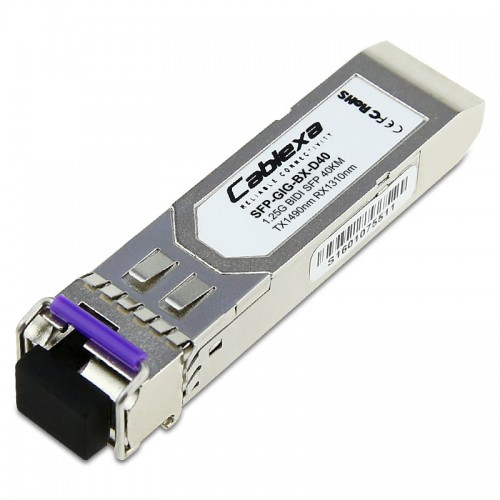 Alcatel-Lucent SFP-GIG-BX-D40, 1000Base-BX SFP transceiver with an LC type of interface, TX-1490nm RX-1310nm 40km