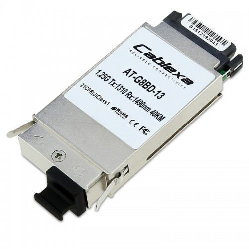 Allied Telesis AT-G8BD-13, 1000LX BiDirectional Fiber GBIC (1310 Tx, 1490 Rx)