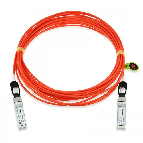 Arista Compatible AOC-S-S-10G-15M, SFP+ to SFP+ 10GbE Active Optical Cable 15 meter