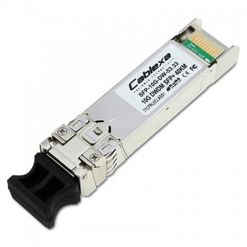 Arista Compatible SFP-10G-DW-53.33, 10GBASE-DWDM SFP+ 1553.33nm (ITU Channel 21) SFP+ Optics Module (100-GHz ITU grid) (40km Reach)