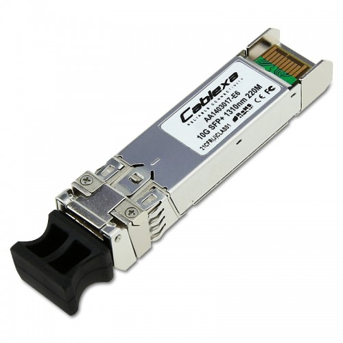 Avaya Compatible AA1403017-E6, 1-Port 10GBASE-LRM SFP+ Transceiver with LC Connector. Supports (62.5u) multi-mode fiber (MMF) installations for interconnects up to 220m.
