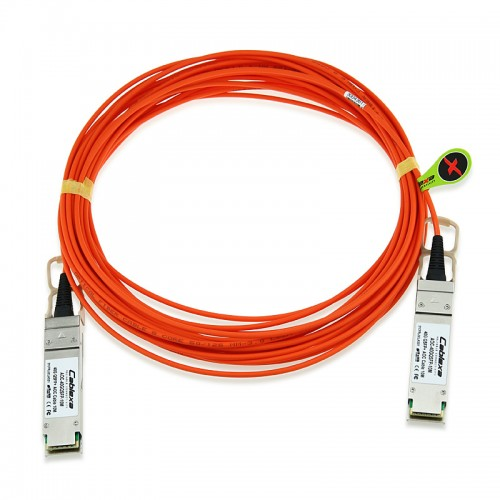 Avaya Compatible AA1404028-E6, 40G QSFP+ Active Optical Cable, 10m