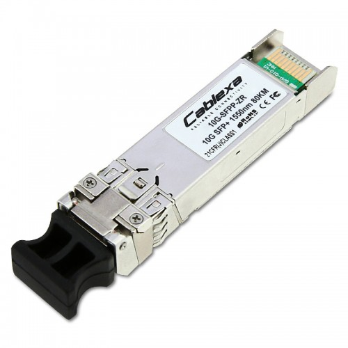 Brocade Compatible 10GBASE-ZR, SFP+ optic (LC), for up to 80 km over SMF, 57-1000180-01