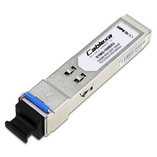 Brocade Compatible 100Base-BXD SFP optic, SMF, TX-1310nm, RX-1550nm, LC connector, 10km