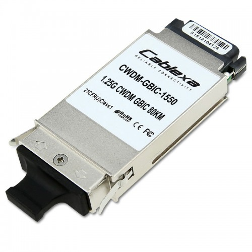 Cisco Compatible CWDM-GBIC-1550 1000BASE-CWDM GBIC 1550 nm