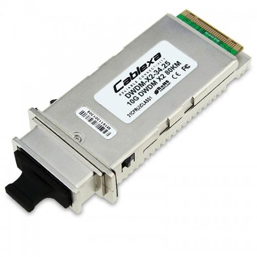 Cisco Compatible DWDM-X2-34.25 10GBASE-DWDM X2 1534.25nm 80km