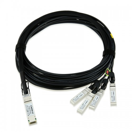 Cisco Compatible QSFP-4SFP10G-CU5M 40GBASE-CR4 QSFP to 4 10GBASE-CU SFP+ direct-attach breakout cable, 5-meter, passive