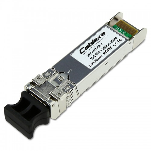 Cisco Compatible SFP-10G-SR-X multirate 10GBASE-SR, 10GBASE-SW and OTU2e SFP+ Module for MMF, extended temperature range