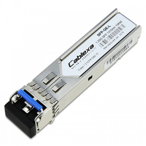 Cisco Compatible SFP-GE-L 1000BASE-LX/LH SFP transceiver module for MMF and SMF, 1300-nm wavelength, 10km, extended operating temperature range and DOM support, dual LC/PC connector