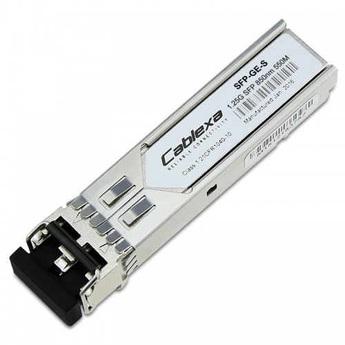 Cisco Compatible SFP-GE-S 1000BASE-SX SFP transceiver module for MMF, 850-nm wavelength, 550m, extended operating temperature range and DOM support, dual LC/PC connector