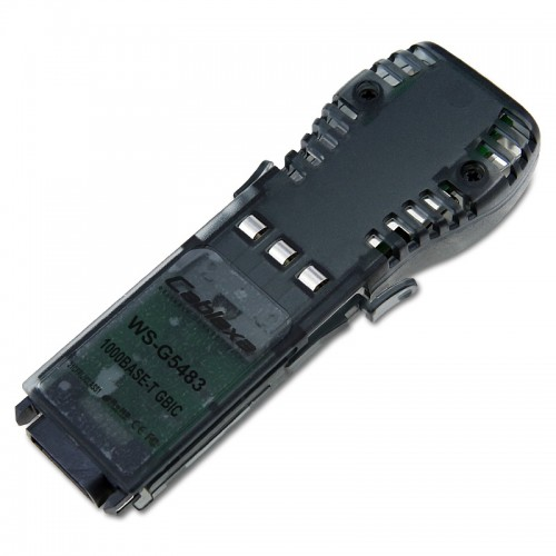 Cisco Compatible WS-G5483 1000BASE-T GBIC transceiver module for Category 5 copper wire, 100m, RJ-45 connector