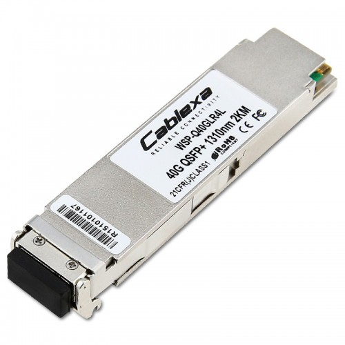 Cisco Compatible WSP-Q40GLR4L 40GBASE-LR4L QSFP Module for SMF
