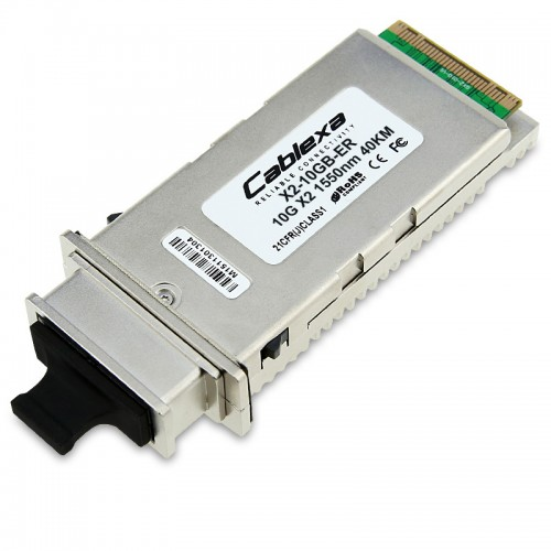 Cisco Compatible X2-10GB-ER 10GBASE-ER X2 transceiver module for SMF, 1550-nm wavelength, 40km, SC duplex connector