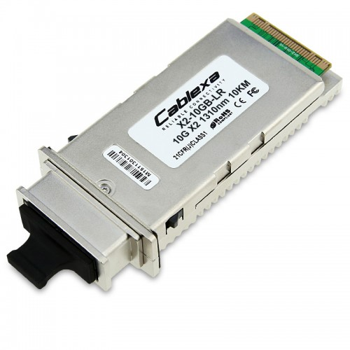 Cisco Compatible X2-10GB-LR 10GBASE-LR X2 transceiver module for SMF, 1310-nm wavelength, 10km, SC duplex connector