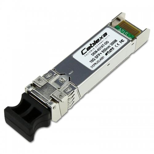 D-Link Compatible DEM-431XT-DD, 10GBASE-SR SFP+ Transceiver (with DDM), 850nm Multi-Mode Transceiver, 300m Max Distance, Duplex LC Connector