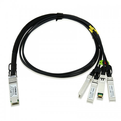 D-Link Compatible DEM-CB100QXS-4XS, 1m 40G QSFP+ to four SFP+ Direct Attach Copper Fan-out Cable