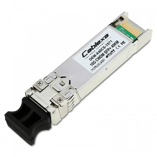 D-Link Compatible DEM-X40CS-1571, 10G SFP+ CWDM transceiver for single-mode fiber optic cable (wavelength 1571nm, up to 40 km)