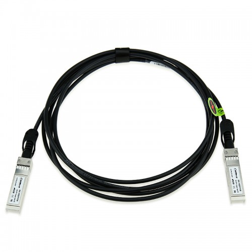 Dell Compatible 24AWG SFP+ 10G Twinax Passive Ethernet Cable 06124 - Network cable - SFP+ - SFP+ - 6.6 ft - SFF-8431 - black