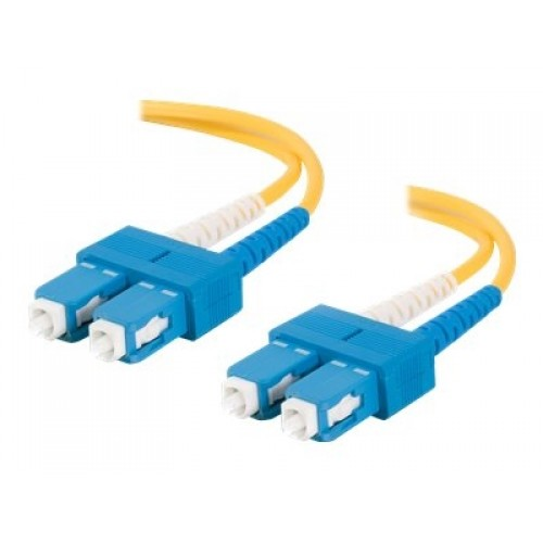 Dell Compatible 1m SC-SC 9/125 OS1 Duplex Single-Mode PVC Fiber Optic Cable 20808 - Yellow - patch cable - 3.3 ft - yellow