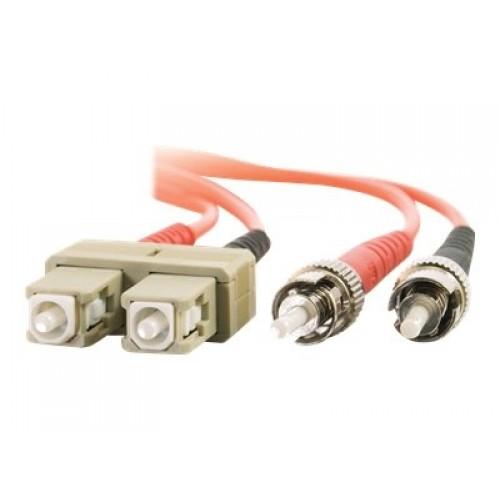 Dell Compatible SC-ST 50/125 OM2 Duplex Multimode PVC Fiber Optic Cable 37416 - patch cable - 6.6 ft - orange