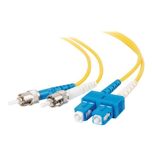 Dell Compatible 10m SC-ST 9/125 OS1 Duplex Single-Mode PVC Fiber Optic Cable 13479 - Yellow - patch cable - 33 ft - yellow