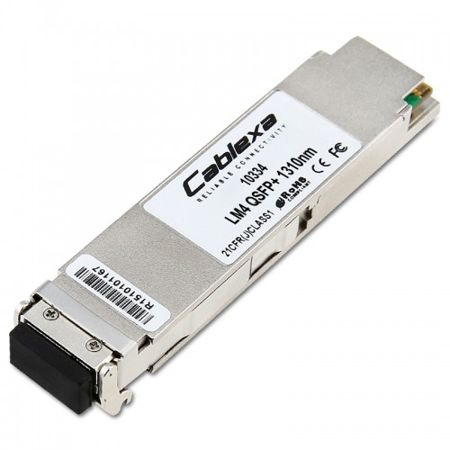 Extreme Compatible 10334, LM4 QSFP+ Module, 1310nm, 1km @ SMF, 160m @ OM4