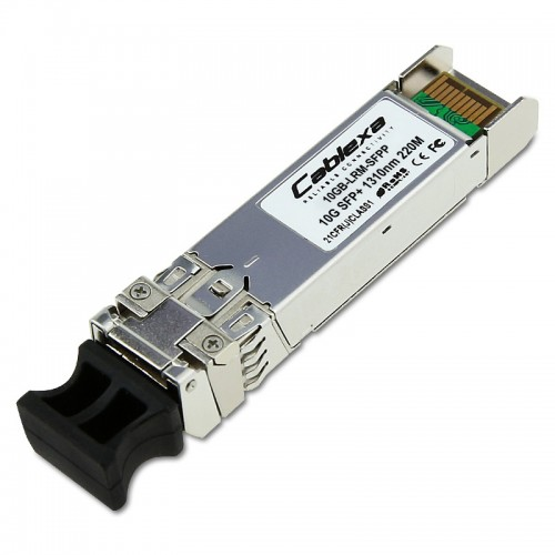 Extreme Compatible 10GB-LRM-SFPP, 10 Gb, 10GBASE-LRM, IEEE 802.3 MM, 1310 nm Short Wave Length, 220 m, LC SFP+