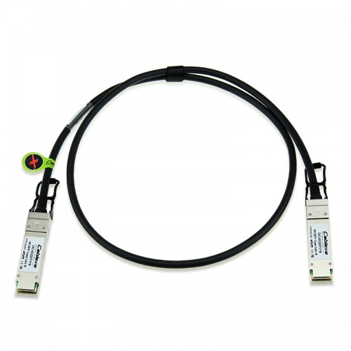 Extreme Compatible 40GB-C0.5-QSFP, 40 Gb, Copper Direct Attach Cable with integrated QSPF+ transceivers, 0.5m