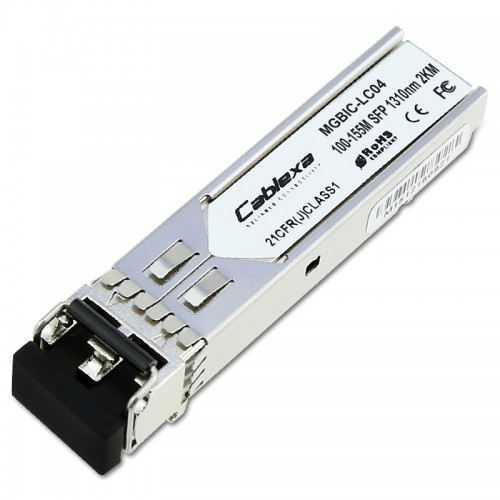 Extreme Compatible MGBIC-LC04, 100 Mb, 100BASE-FX, IEEE 802.3 MM, 1310 nm Long Wave Length, 2 km, LC SFP