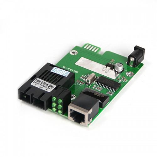 Dual Fiber 10/100M SNMP Managed Fiber Media Converter Module, 1-port Fiber & 1-port RJ45, 1310nm Singlemode, 40km