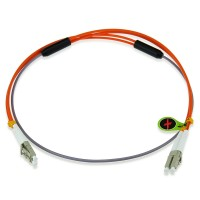 Custom OM1 62.5/125 Multimode Duplex Armored Fiber Patch Cable