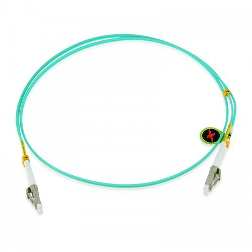 Custom OM4 40G 50/125 Multimode Duplex Fiber Optic Patch Cable