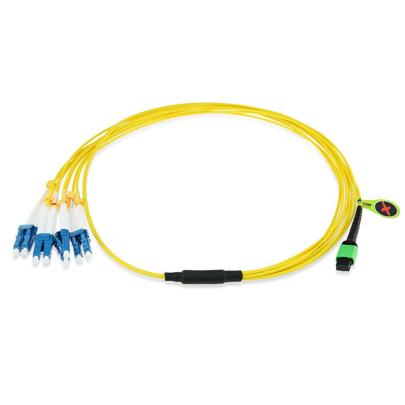 Qsfp Mpo To 8 Lc 4 Duplex Lc Fanout Breakout Cable