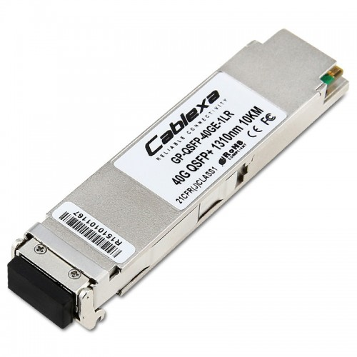 Force10 Compatible GP-QSFP-40GE-1LR, 40GBase QSFP LR4, 10 Km, Four 10Gbps CWDM wavelengths: 1260 - 1360 nm QSFP+ transceiver