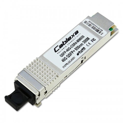 H3C Compatible QSFP-40G-CSR4-MM850, 40GBASE-CSR4 QSFP + Optical Transceiver Module, MMF, 300m over OM3 and 400m over OM4