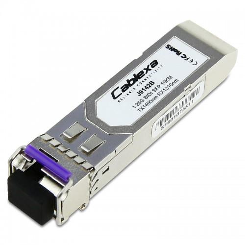 HP Compatible J9142B X122 1G  LC 1000BASE-BX10-D TX-1490nm RX-1310nm 10km SFP Transceiver
