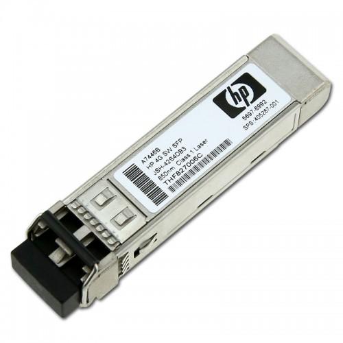 New Original HP 4GB SHORT WAVE FIBRE CHANNEL SFP+ 1 PACK TRANSCEIVER, 405287-001
