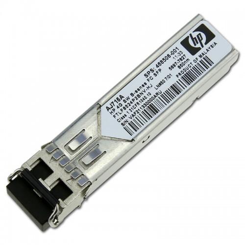 New Original HP 4GB SHORT WAVE FIBRE CHANNEL SFP+ 1 PACK TRANSCEIVER, 468506-001