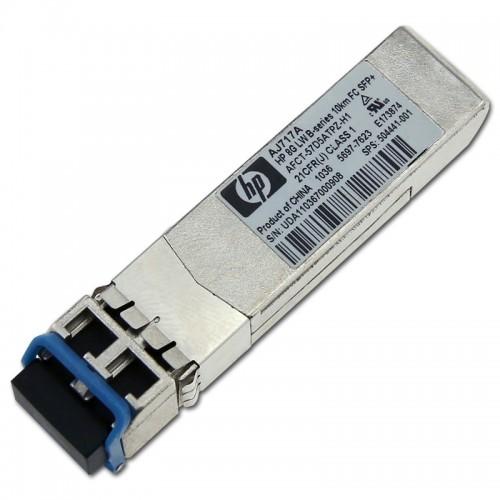 New Original HP 8GB LONG WAVE B-SERIES 10KM FIBRE CHANNEL 1 PACK SFP+ TRANSCEIVER, 504441-001