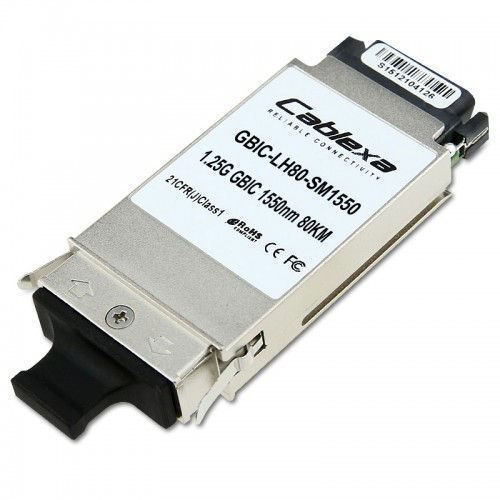 Huawei Compatible GBIC-LH80-SM1550, Optical Transceiver, GBIC, GE, Singlemode Module (1550nm, 80km, SC)