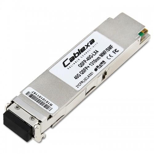 Huawei Compatible QSFP-40G-LX4, 40GE Optical Module, 40GBASE-LX4, MMF / SMF, 1310nm, 150 m @ OM3, 2 km @ SMF, LC, 02311HNP