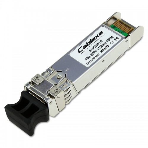 Intel Compatible E10GSFPLR, Ethernet SFP+ Optics, 10GBASE-LR, 1000BASE-LX, Duplex LC, 1310nm SMF, 10km