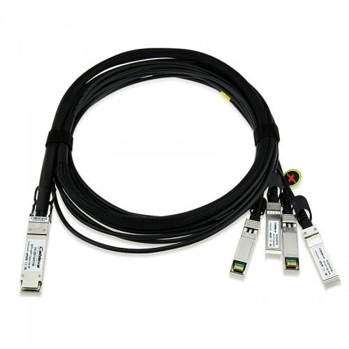 Intel Compatible X4DACBL3, Ethernet QSFP+ Breakout Cable, QSFP+ to 4 SFP+ Passive Copper Cables, 3m