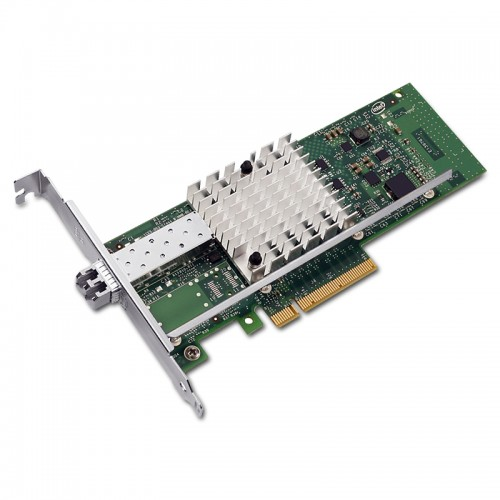 New Intel E10G41BFLR, Intel Ethernet Converged Network Adapter X520-LR1, Intel 82599ES Controller, 10 GbE, Single Port, LC SMF