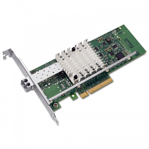 New Intel E10G41BFSR, Intel Ethernet Converged Network Adapter X520-SR1, Intel 82599ES Controller, 10 GbE, Single Port, LC MMF